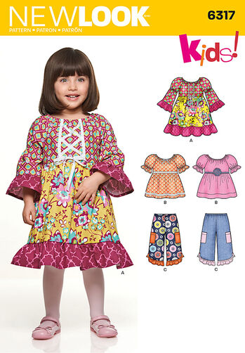 Toddlers' Dress, Top and Pants