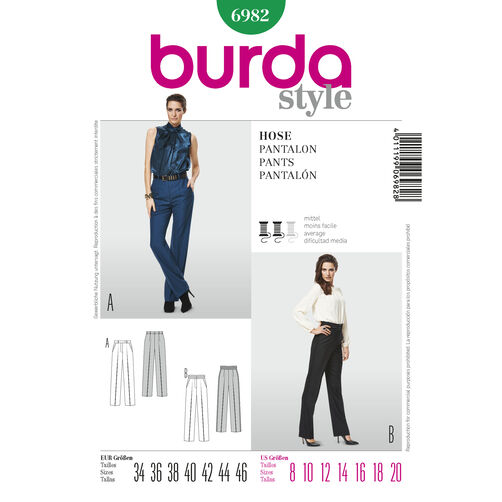 Burda Style Pattern 6982 Pants