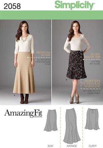 Misses' & Plus Size Amazing Fit Skirt