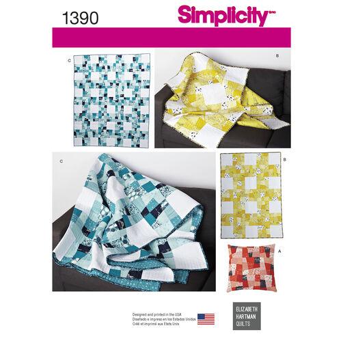 Simplicity Pattern 1390 Wonky Nine Quilt Set