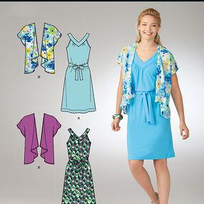 It's So Easy Misses' Dress and Kimono