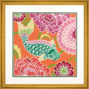Koi With Flowers Needlepoint_71-20076