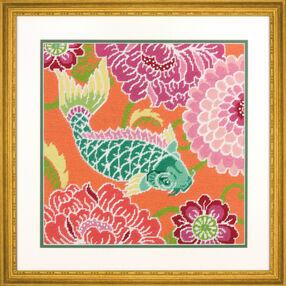 Koi With Flowers Needlepoint_71-20076