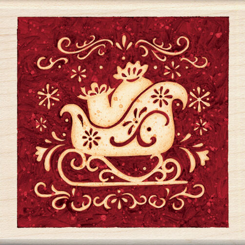 Sleigh Wood Stamp _60-00851