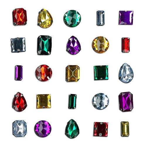 Multi Color Gems Sticker Set_50-20673