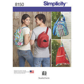 Simplicity Pattern 8150 Backpacks in Two Styles