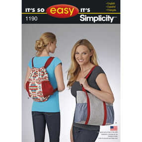 It's So Easy Pattern 1190 Tote Bags
