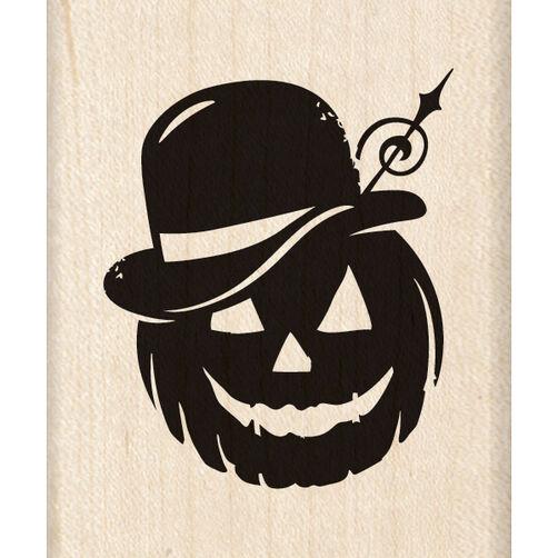 Bowler Hat Pumpkin Wood Stamp_60-00923