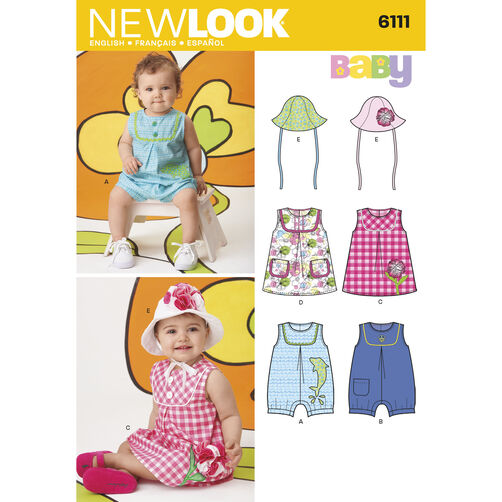New Look Pattern 6111 Babies' Dresses