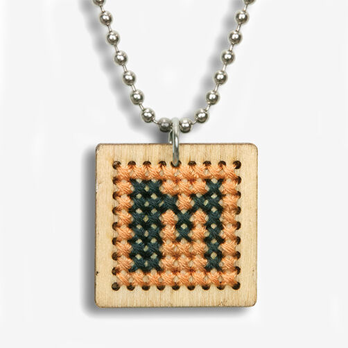 Small Monogram Pendant Counted Cross Stitch Kit_72-74072