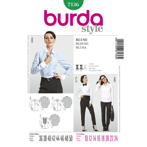 Burda Style Pattern 7136 Blouse