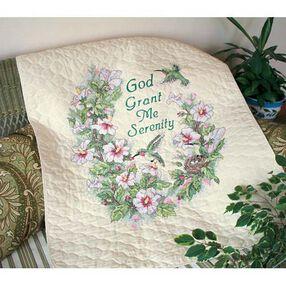 Serenity Hummingbird Quilt, Stamped Cross Stitch_03232