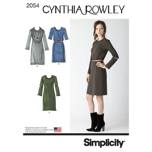 Simplicity Pattern 2054 Misses' Dresses. Cynthia Rowley Collection
