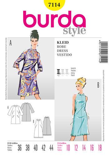 Burda Style Pattern 7114 Dress