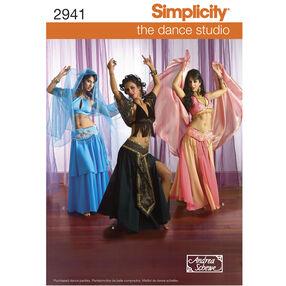 Simplicity Pattern 2941 Misses' Bellydancer Costumes