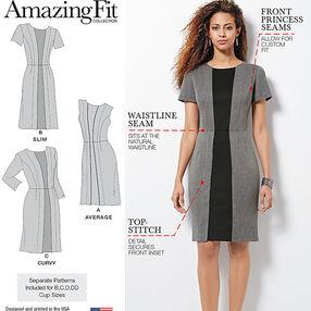 Misses' & Plus Size Amazing Fit Dress