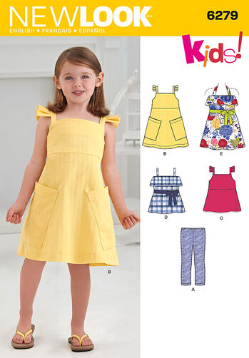 Child's Dresses or Tops and Knit Cropped Leggings