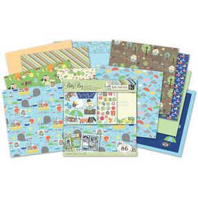 Jillian Phillips Nursery Rhymes 12 x 12 Baby Boy Scrap Kit_30-541573