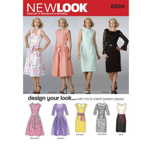 New Look Pattern 6824 Misses Dresses