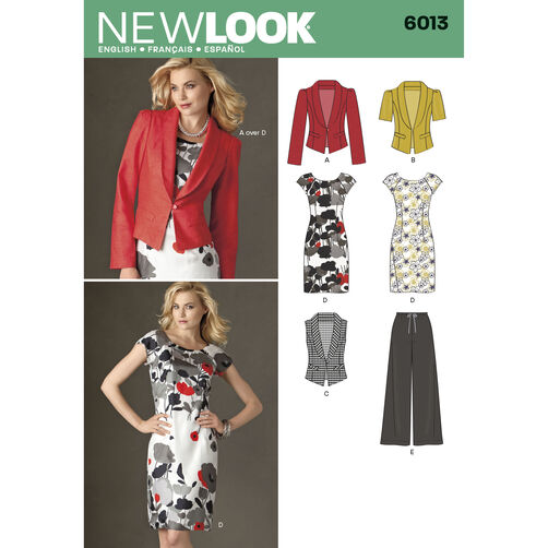 New Look Pattern 6013 Misses' Separates