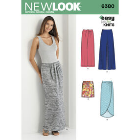 New Look Pattern 6380 Misses' Knit Skirts and Pants