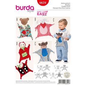 Burda Style Pattern 6624 Cuddle Cloth Toys