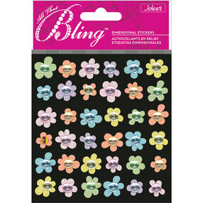 Bling Baby Mini Flowers Stickers_50-20204