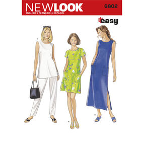 New Look Pattern 6602 Misses' Dresses