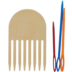 Comb and Plastic Yarn Needles for Weaving_72-74645