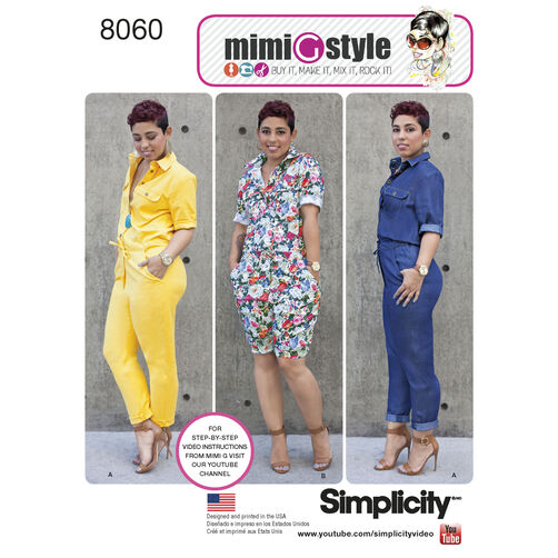 Simplicity Pattern 8060 Misses' Jumpsuits from Mimi G Style