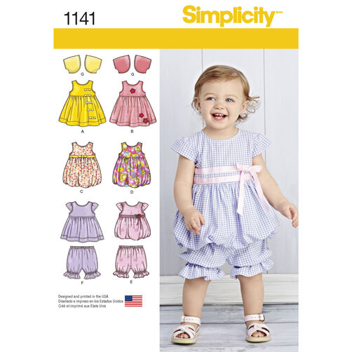 Pattern For Babies Dresses Simplicity