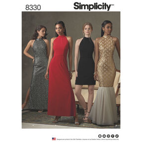 Simplicity Pattern 8330 Misses' Dress with Skirt and Back Variations