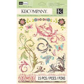 Kelly Panacci Blossom Swirl Rub-on with Gems_30-579644