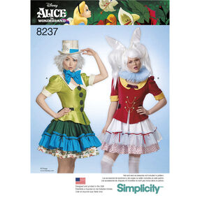 Simplicity Pattern 8237 Misses' Alice in Wonderland Cosplay Costumes