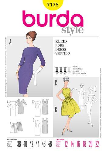 Burda Style Pattern 7178 Dress