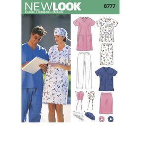 New Look Pattern 6777 Miss/Men Scrubs