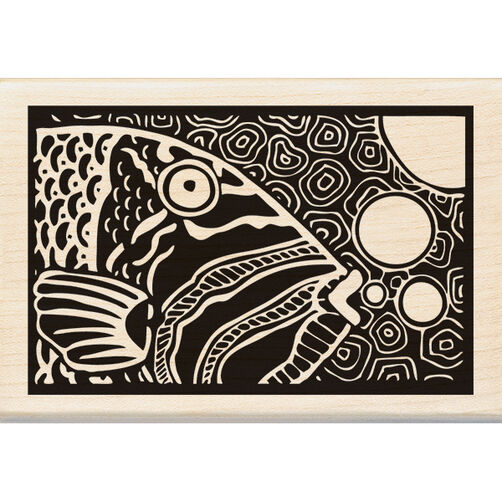 Parrot Fish Wood Stamp_60-00968