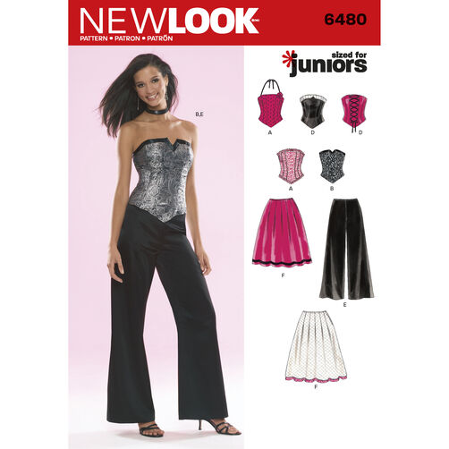New Look Pattern 6480 Junior Special Occasion Separates