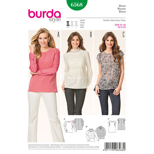 Burda Blouse Pattern Free 76
