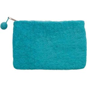 Wool Felt Mini Purse, Aqua_73341