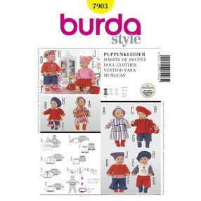 Burda Style Pattern 7903 Doll Clothes
