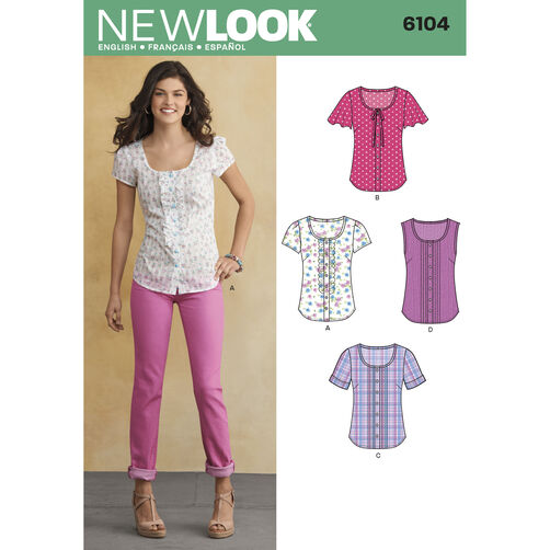 New Look Pattern 6104 Misses' Tops