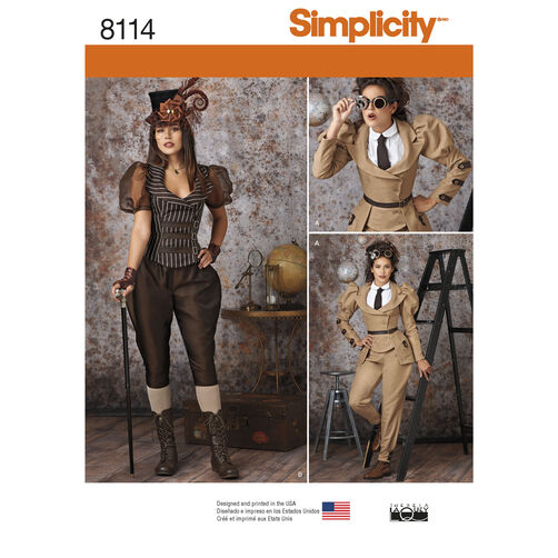 Simplicity Pattern 8114 Misses' Steampunk Costumes