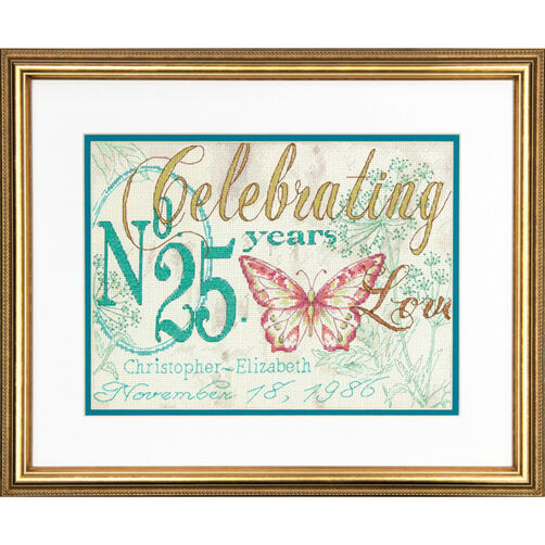 Celebrating Anniversary Record Counted Cross Stitch Kit_70-73808