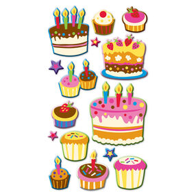 Cakes And Cupcakes Puffy Stickers_SPP1PVC30