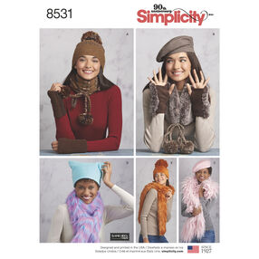 Simplicity Pattern 8531 Misses' Cold Weather Accessories