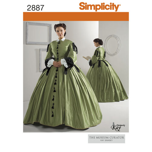 Simplicity Pattern 2887 Misses' Civil War Costumes