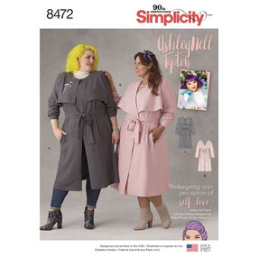 Simplicity Pattern 8472 Ashley Nell Tipton Women's Coats