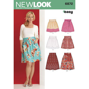 New Look Pattern 6872 Misses' Skirts