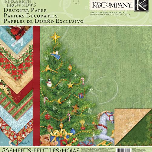 Elizabeth Brownd Visions of Christmas 12x12 Designer Paper Pad_30-649996